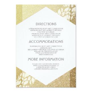 GoldGlitter-Hochzeits-Details - Informationen Karte