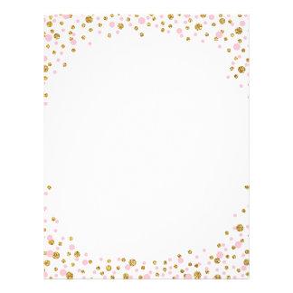 GoldGlitter und -ROSA besprühen Confetti Flyer