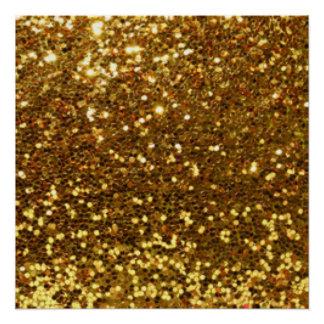 GoldGlittery Diamant-Muster-Druck-Entwurf Perfektes Poster