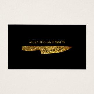 GoldGlitzer-Messer-Geschäfts-Karte Visitenkarte