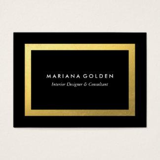 Goldgrenze auf molliger Visitenkarte-Schablone Jumbo-Visitenkarten