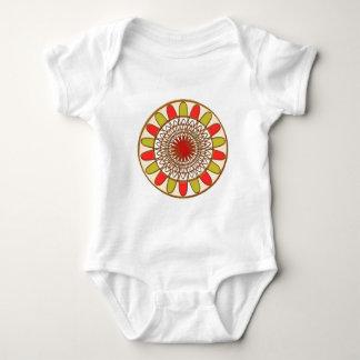 Goldgrenze-SONNENBLUME Chakra Mandala Baby Strampler