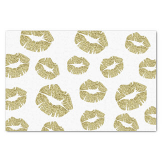 GoldImitat-Glitzer-Küsse Seidenpapier