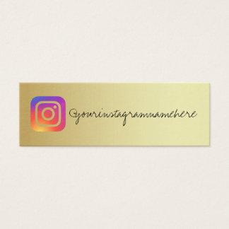 Goldinstagram modische Sozialmedium-Visitenkarte Mini Visitenkarte