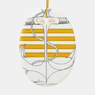 Goldkapitän, tony fernandes ovales keramik ornament