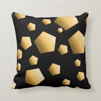 Goldkiesel-Muster Kissen