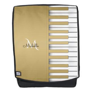 Goldklavier-Tastatur-Musik Rucksack