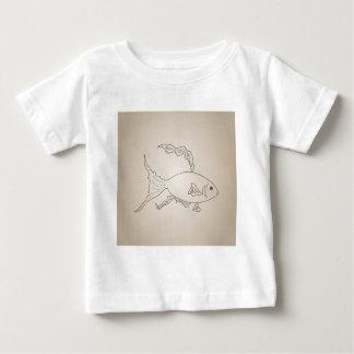 Goldkleine Fische Baby T-shirt
