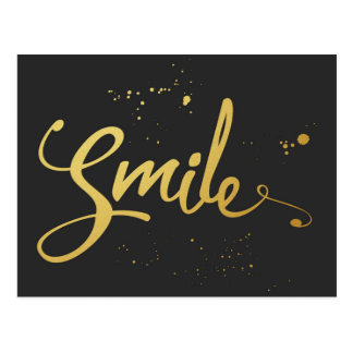Goldlächeln-Zitat Postkarte