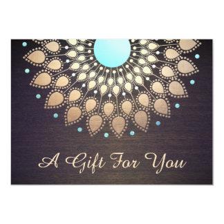 GoldLotus-Massage Therapeut-Geschenkgutschein 11,4 X 15,9 Cm Einladungskarte