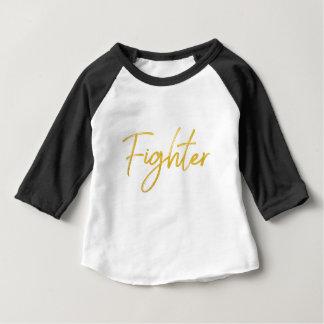 GOLDmarkierungs-KÄMPFER-SKRIPT-MOTIVATIONS-GANG Baby T-shirt