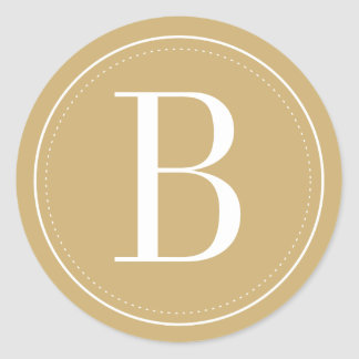 Goldmonogramm-Umschlag Aufkleber