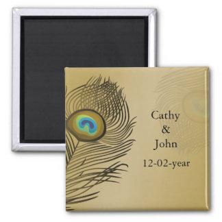 Goldpfau, der Save the Date wedding ist Magnets