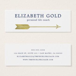 Goldpfeil-Visitenkarte Mini Visitenkarte
