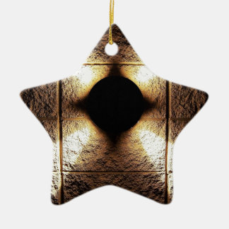Goldrostiger brauner Kunstbrand-Rauch abstrakte Keramik Ornament