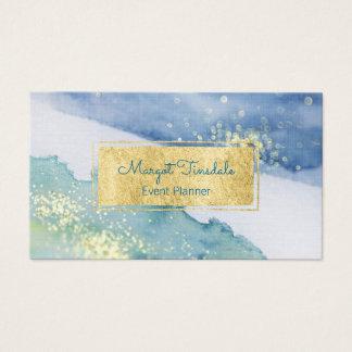 Goldschein und Aquarell-Visitenkarte Visitenkarten