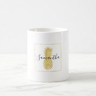 Goldschillernde Ananas Tasse
