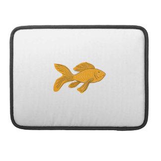 Goldschmetterling Koi Schwimmen-Zeichnen Sleeve Für MacBooks