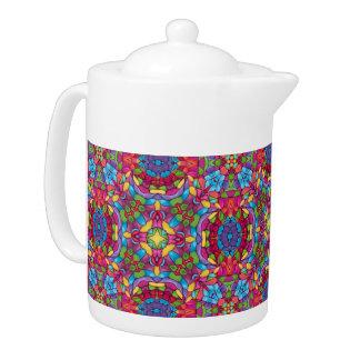 Goldschürfer-Kaleidoskop-Muster-Teekannen
