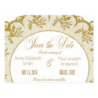 Goldspitze Save the Date Postkarte