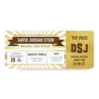 Goldsport-Thema-Bar Mitzvah Entwurf 10,2 X 23,5 Cm Einladungskarte