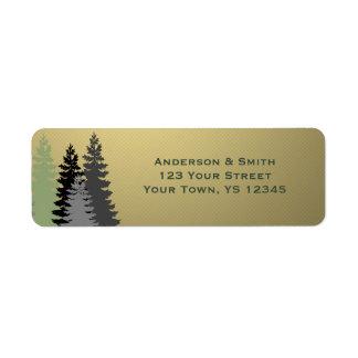 Goldstern-Firmenkundengeschäft-Feiertags-Adresse Rückversand-Adressaufkleber