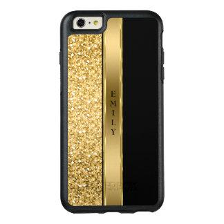 Goldstreifen und -Glitter OtterBox iPhone 6/6s Plus Hülle