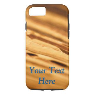 Goldtelefon-Kasten mit kundengerechtem Text iPhone 8/7 Hülle