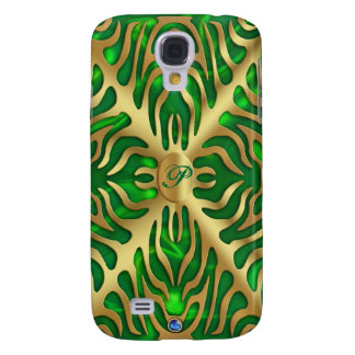 Goldtiger-Grün-Satin üppiger iPhone 3G Fall Galaxy S4 Hülle