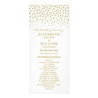 GoldTupfen-Hochzeits-Programm Werbekarte