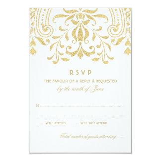 GoldVintager Glamour Hochzeit UAWG Karten-| 8,9 X 12,7 Cm Einladungskarte