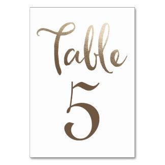 GoldWedding Tischnummer-Typografie-Karten