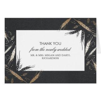 Goldweizen-Hochzeit im Herbst danken Ihnen Mitteilungskarte