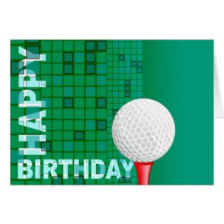 Golf-alles- Gute zum Geburtstagkarte Karte