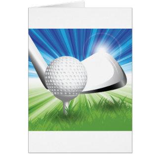 Golf-Ball-und T-Stück Mitteilungskarten Karte