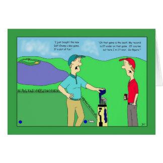 Golf-Champions-Videospiel-Geburtstags-Karte Karte