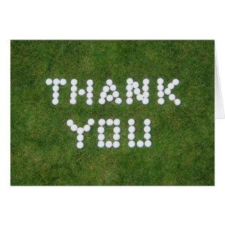 Golf danken Ihnen Karte