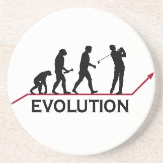 Golf-Evolutions-Untersetzer Getränkeuntersetzer