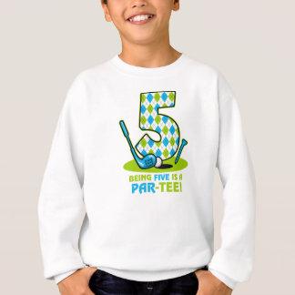 Golf Gleichheit-T-Stück 5. Geburtstag Sweatshirt