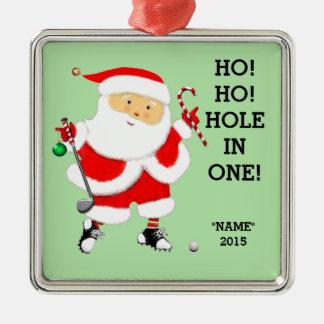 Golf Loch-in-ein Silbernes Ornament