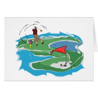Golf-Mann Grußkarte