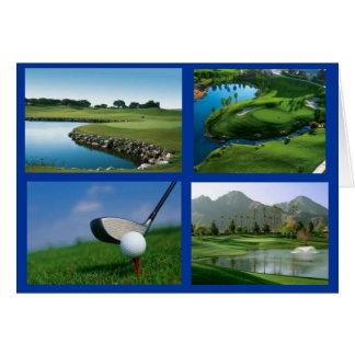 Golf notecard karte