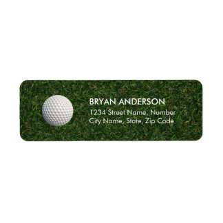 Golf-Rücksendeadresse-Aufkleber Rücksende Aufkleber