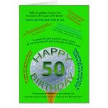 Golf scherzt Geburtstagskarte für 50 Jährige Grußkarte