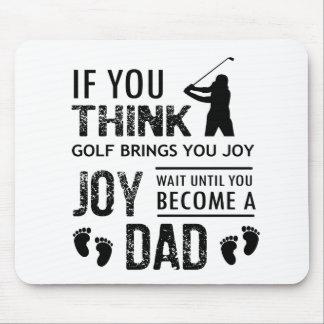 Golf spielender Vati Mauspad
