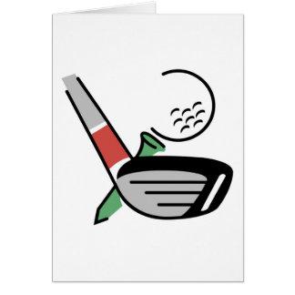 Golf-Verein, Ball und T-Stück T - Shirts und Karte