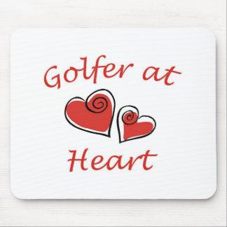 Golfspieler am Herzen Mauspad