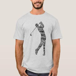 Golfspieler-Golf-Typografie-T-Shirt T-Shirt