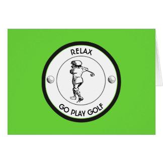 Golfspieler Karte