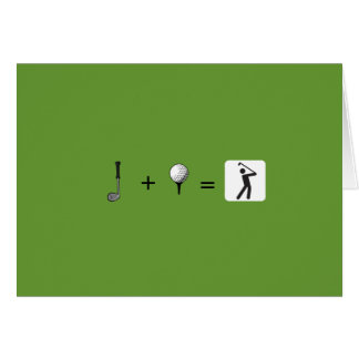Golfspielerkarte Karte